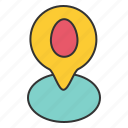easter, egg, location, map icon
