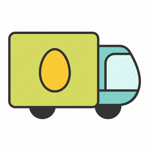 deliver, egg, transport, truck icon
