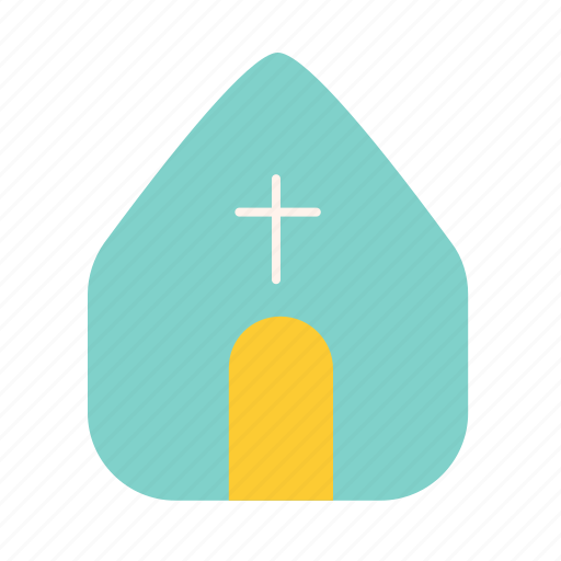 church, easter, house icon