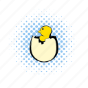 bird, chick, chicken, comics, egg, small, young icon