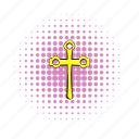 christ, christian, christianity, comics, cross, easter, gold icon