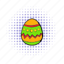 celebration, comics, easter, egg, holiday, season, spring icon