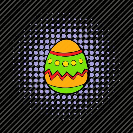 celebration, comics, easter, egg, holiday, season, spring icon