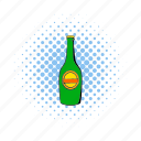 alcohol, beer, bottle, cap, comics, lager, light icon