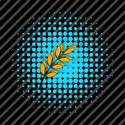 barley, beer, brewery, comics, dry, ear, grain icon
