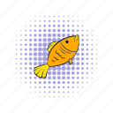 comics, dry, fish, food, salted, seafood, snack icon