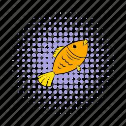 comics, dry, fish, food, salted, seafood, snack icon