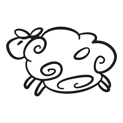 animal, easter, gooey, lamb, sheep, tart, wide icon