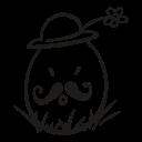 decorative, easter, egg, flower, fragile, hat, mustache