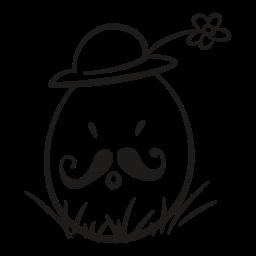 decorative, easter, egg, flower, fragile, hat, mustache icon