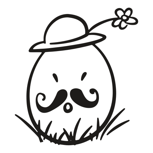 decorative, easter, egg, flower, fragile, hat, mustache icon