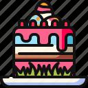 baked, bakery, cake, cupcake, dessert, easter day, easter egg icon