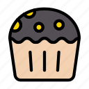 cupcake, muffin, sweets, delicious, food