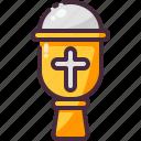 church, goblet, religion icon