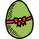 bow, decorated, decoration, easter, egg, paschal, ribbon