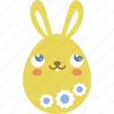 blush, bunny, easter, egg, emoji, emotion, rabbit icon