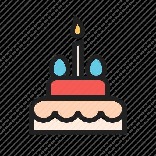 birthday, cake, cakes, celebration, chocolate, sweet icon