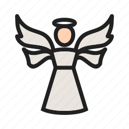 angel, death, decoration, heaveb, holy, wings icon