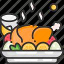 chicken, food, meal, roast chicken, turkey