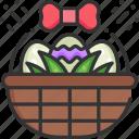 basket, decoration, easter, easter eggs, egg