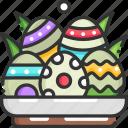 basket, decoration, easter, easter egg, easter eggs
