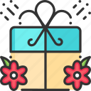 easter, gift, gift box, present icon