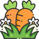carrot, easter, healthy food, organic, vegan icon
