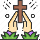 christian, cross, easter, prayer, religion