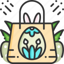 easter, gift, present, shopping bag icon