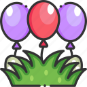balloons, celebration, decoration, easter