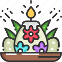 candle, candles, easter, easter eggs, eggs icon