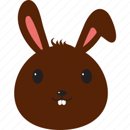 bunny, chocolate, easter icon