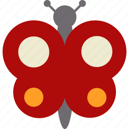 butterfly, easter, insect icon