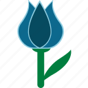 blue, easter, flower icon