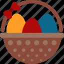 basket, eggs, easter
