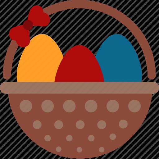 Basket, easter, eggs icon - Download on Iconfinder