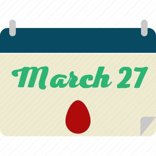 calendar, easter, march icon