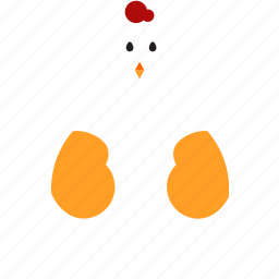 chicken, easter icon