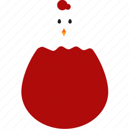 chicken, easter, egg icon