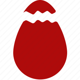cracked, easter, egg icon