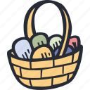 basket, catholic, celebration, color, easter, spring icon