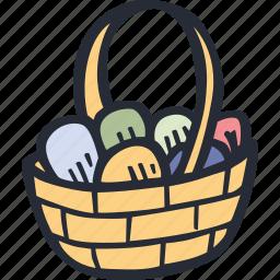 basket, catholic, celebration, color, easter, spring icon