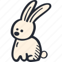 bunny, catholic, celebration, color, easter, spring icon