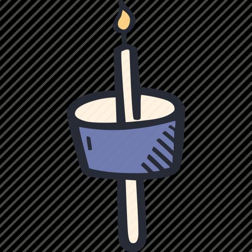 candle, catholic, celebration, color, easter, spring icon