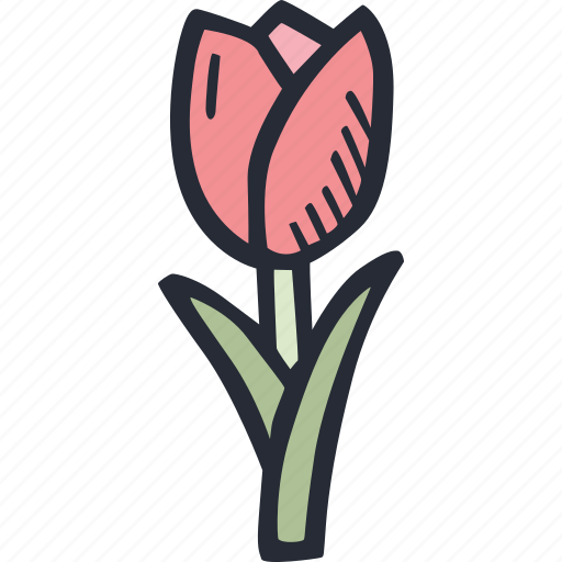 color, easter, flower, nature, plant, spring, tulip icon