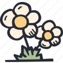 color, easter, flower, nature, plant, spring icon