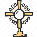catholic, celebration, color, easter, monstrance, spring icon