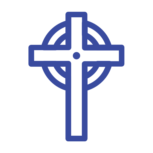 celebration day, christianity, cross, easter, holiday, line, spring icon
