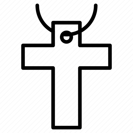Cross, necklaces, christian, religion, catholic icon - Download on Iconfinder