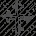 church, cross, religion icon